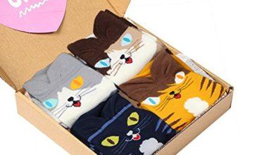 Cat Crew Cotton Socks