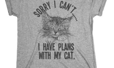 """Sorry I can't.. I Have Plans With My Cat"" T-Shirt"