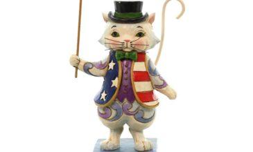 Jim Shore Patriotic Cat Figurines!